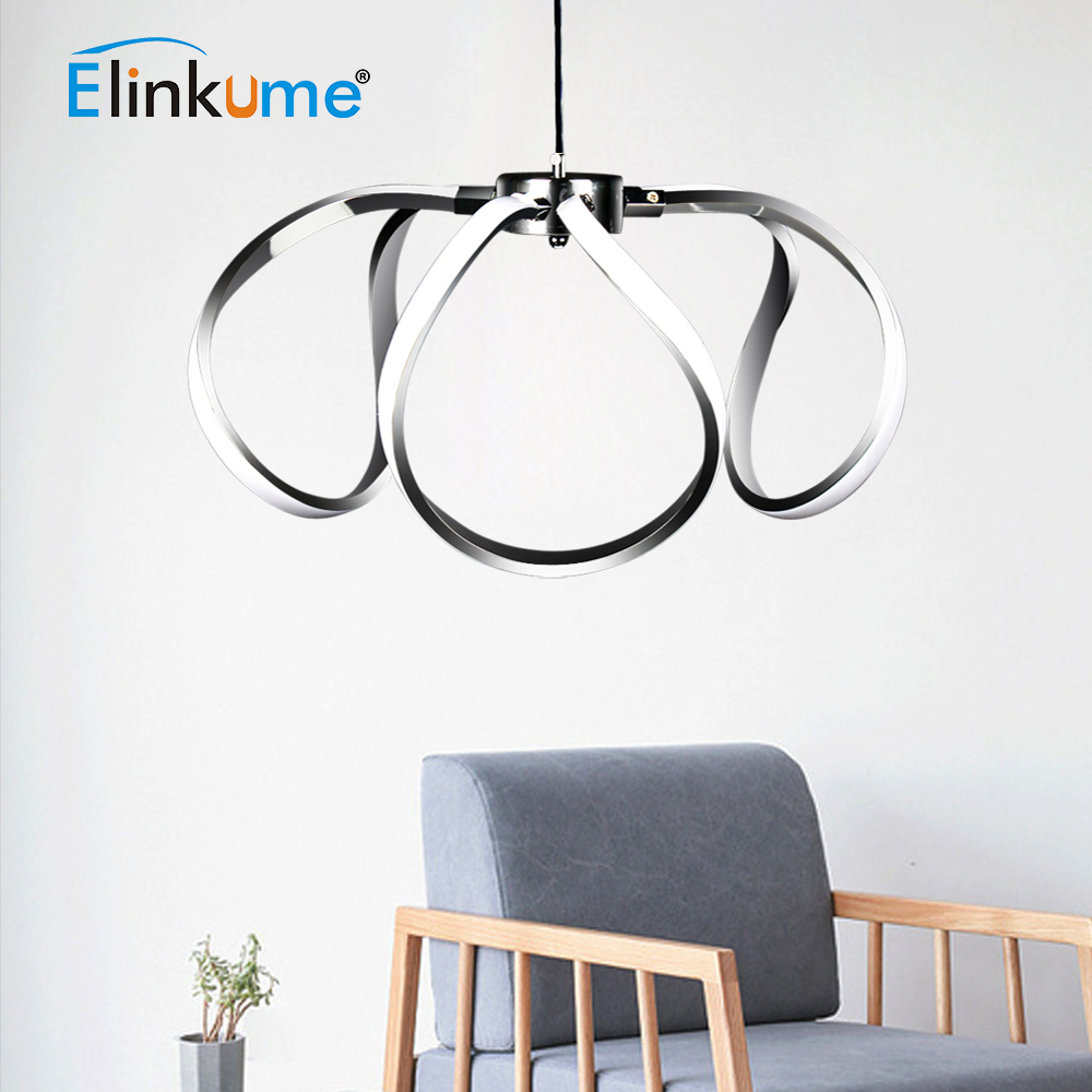 Elinkume LED Acrylic Luxury Pendant Lights 45W Modern Kitchen Lamp 170-265v Dining Living Room Daylight Hanging Decor LightElinkume LED Acrylic Luxury Pendant Lights 45W Modern Kitchen Lamp 170-265v Dining Living Room Daylight Hanging Decor Light