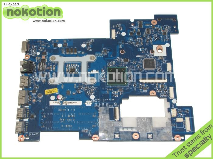 NOKOTION Laptop Motherboard For Lenovo G570 LA-675AP Mainboard Intel HP65 DDR3 Socket PGA989 original laptop motherboard abl51 la c781p 813966 501 for hp 15 af mainboard full test works