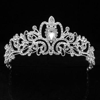 19 Designs Crystal Wedding Bridal Tiara Crowns for Women Princess Hair Ornament Fashion Bride Headpiece Hair Jewelry Accessories