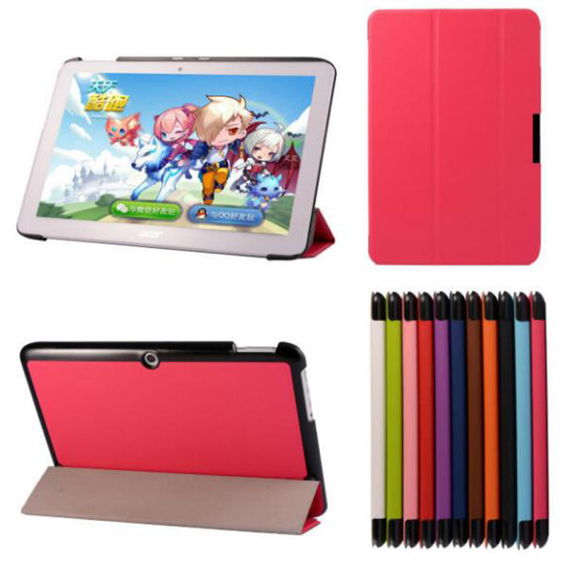 Ultra Thin Slim Luxury Magnetic Folio Stand Leather Case Smart Sleeve Cover For Acer Iconia Tab 10 A3-A20 A3-A20FHD A1407 10.1 slim print case for acer iconia tab 10 a3 a40 one 10 b3 a30 10 1 inch tablet pu leather case folding stand cover screen film pen