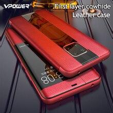 עבור Huawei Mate 20 עור מקרה יוקרה אמיתי עור מקרי Flip עבור Huawei Mate 20 פרו/Mate 20 X / Mate 20 RS טלפון מכסה