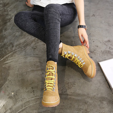 Travel Shoes Woman Martin Matte Leather Sports Boots Female British Style High LACE BOOT Women Shoes Tidal Flow Walking Shoes