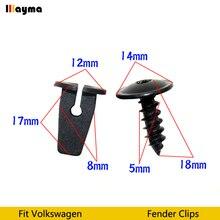 Clips de plástico para guardabarros, Passat B5 B6 B7 CC Golf MK6 Tiguan Touran Polo