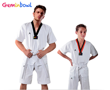 цена на Taekwondo uniform children short-sleeve tae kwon do summer adult Cotton