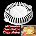 High Quality DIY Low Calories Microwave Oven Fat Free Potato Chips Maker Baking & Pastry Tools Free Shipping NG4S