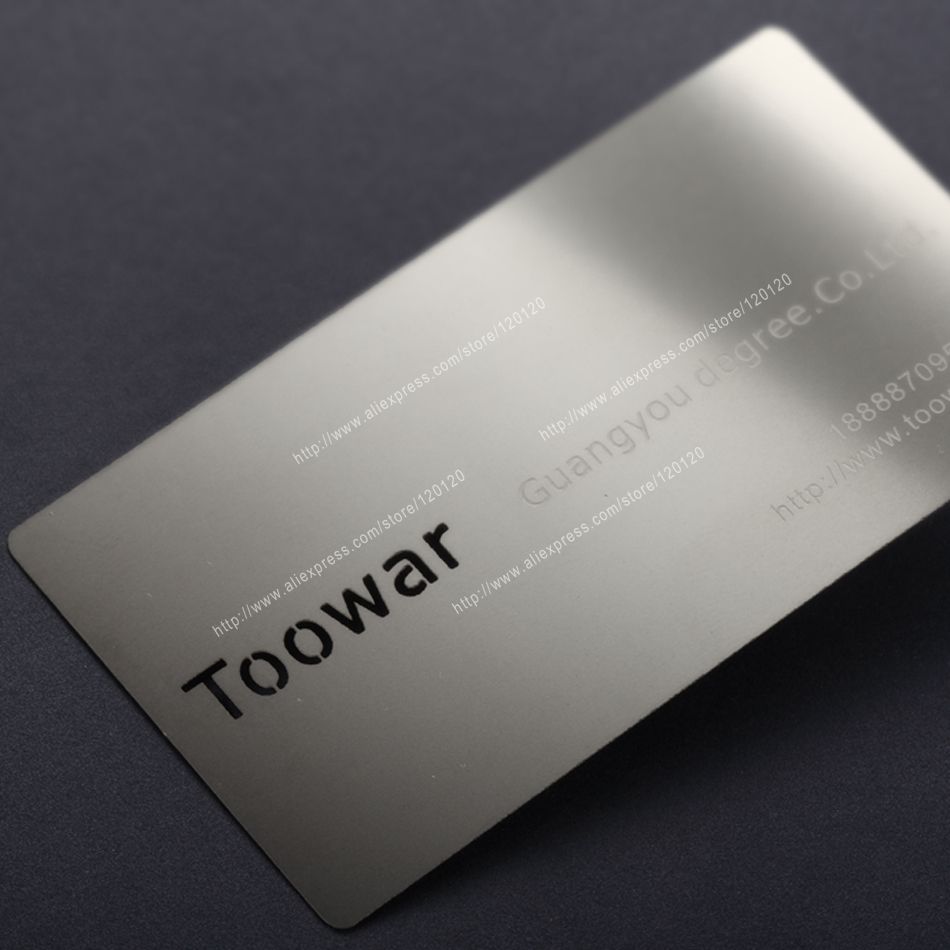 Personalized Circle Cutout Out Quality Stainless Steel Business Metal Card