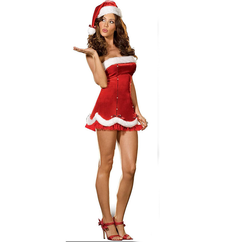 Christmas Dress 2018 Women Sexy Santa Costume Christmas Party Fancy Dress Cosplay Suit