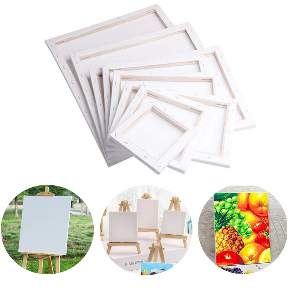 White Blank Square Mini Canvas Painting Drawing Board Wooden Frame For Artist Acrylic Oil Paints Blank Canvas Frame Art Supplies