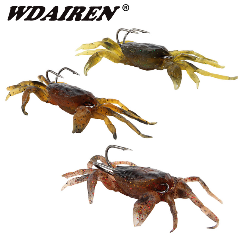 1Pcs Soft Fishing Lures 8cm 35g Artificial Bait Crab With Sharp Hooks, Jigging Lure Sea Creature Tackle Fake Bait For Fishing