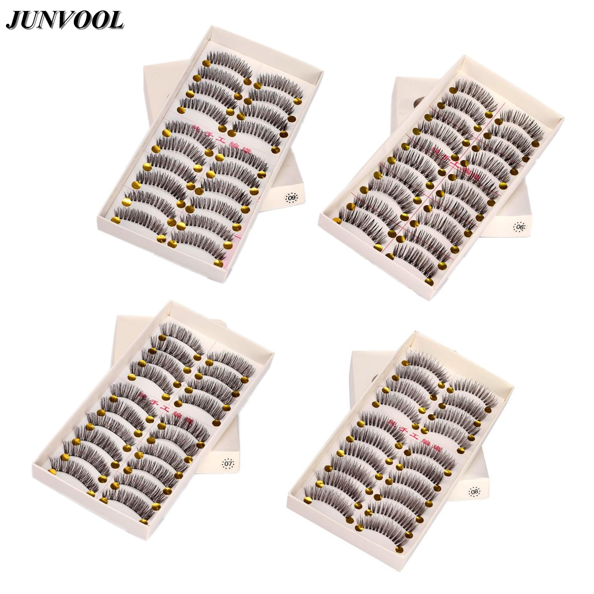 Eyelash Extension 10 Pairs Thin Natural Black Long Fake False Eyelashes Makeup Women Lady Eye Lashes Handmade Beauty Tips Bigeye