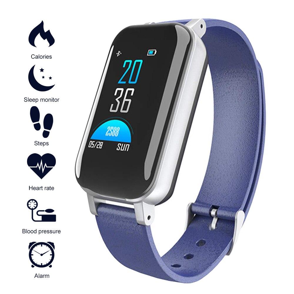 Activity-Tracker Wristband Smart-Bracelet Sport with Bluetooth-Earphones Blood-Pressure
