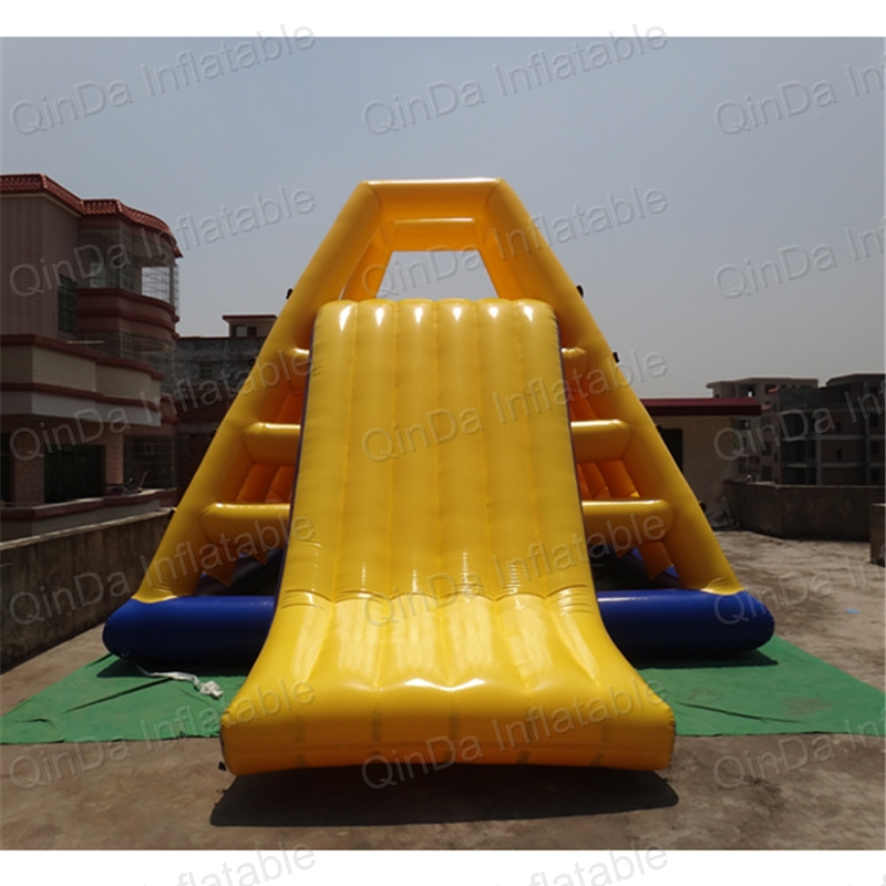 Custom Inflatable Water Park Giant Inflatable Floating Slide / Inflatable Aqua Slide For Kids And Adults jungle commercial inflatable slide with water pool for adults and kids