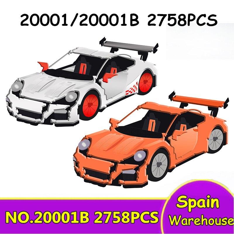 20001 20086 Racer Super Sports Racing Car Building Blocks Bugatti Chiron Technic Car 42056 42083 Kids