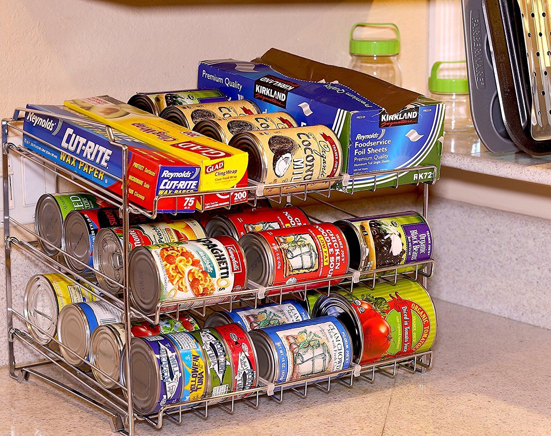Kühlschrank Organizer Stapelbar : Stapelbar kann rack chrom speisekammer organizer getränkeautomaten