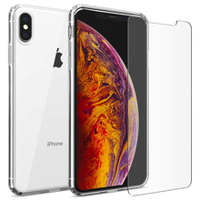 Oppselve Luxury Case For iPhone X XS 8 7 6 S Plus Capinhas Ultra Thin Slim Soft TPU Silicone Cover With Free Tempered Glass