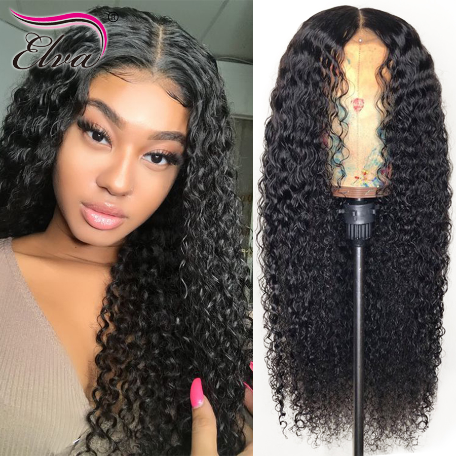 Pre Plucked Full Lace Human Hair Wigs For Black Women Water Wave Brazilian Full Lace Wig With Baby Hair Elva 100% Remy Hair Wigs
