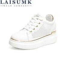 LAISUMK Fashion Wedge Women Footwear Height Increasing women Shoes Women's casual shoes free shipping Increase 8CM Sneakers