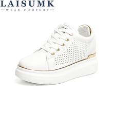 LAISUMK Fashion Wedge Women Footwear Height Increasing women