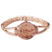 Women Watch Drop Shipping Gift Relogio Feminino Reloj Mujeres Rose Gold Plated Elegant Rhinestone Bracelet Quartz Ladies July4