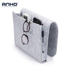 ANHO органайзер для хранения войлочные прикроватные Висячие Сумки для хранения мобильного телефона пульт дистанционного управления книга для мелочей с 2 внутренними карманами для кровати