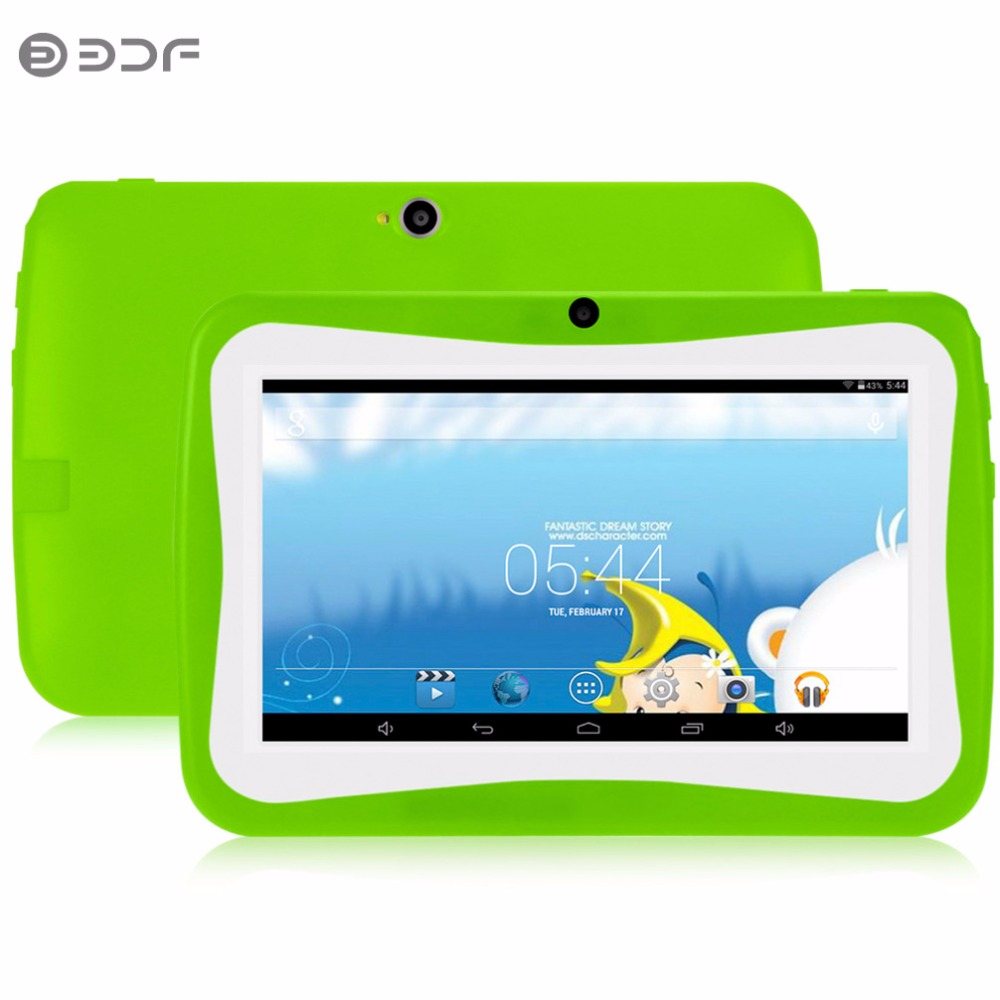 цена на 7 Inch Children Tablet PC Education Android 4.4 512MB 8GB Quad core Nice Design Learning entertainment tablet Pc