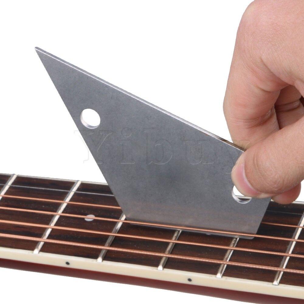 Yibuy 20piece Guitar Adjust Repair Frets Leveling Checker Carbon Steel Fret Rocker Fretboard Board Luthier Tool