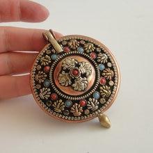 PN051 Тибетский буддизм коробка GAU амулет ручной работы непальский медный приносящий удачу узел 55 мм Большой молитвенный кулон с секретом ожерелье