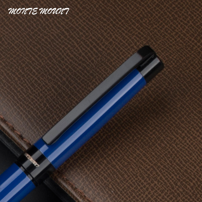 MONTE MOUNT Blue color roller ball pens office stationery luxury Business brand