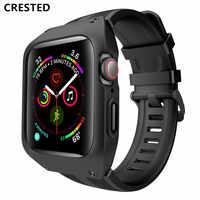 Sport wasserdicht armband + fall Für apple watch band 5 4 iwatch band 5 4 44mm pulseira correa Armband apple watch 5 armband