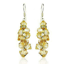 New Fashion Gold austria crystal earrings 925 pure silver earrings noble gorgeous 225