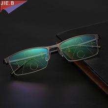 bbc34ccb1b346 2018 Ultra Light antifadiga Inteligência Multifocal Progressiva Comercial  homens Óculos De Leitura Bifocal óculos de dioptria