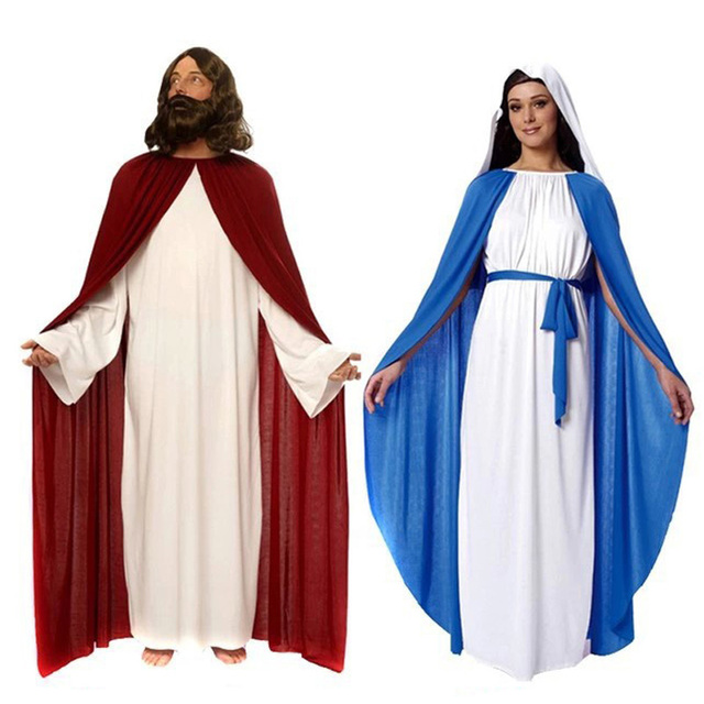 1361a6d3400 US $12.93 |Women Nun Costume Virgin Mary Religious Sister Halloween Dress /  Adult Men Jesus Costume-in Holidays Costumes from Novelty & Special Use on  ...
