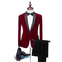 Loldeal 2018 Для мужчин красный костюмы для человека одежда 2 шт максимумом нагрудные костюм для свадьбы классический стиль свадебные смокинги д