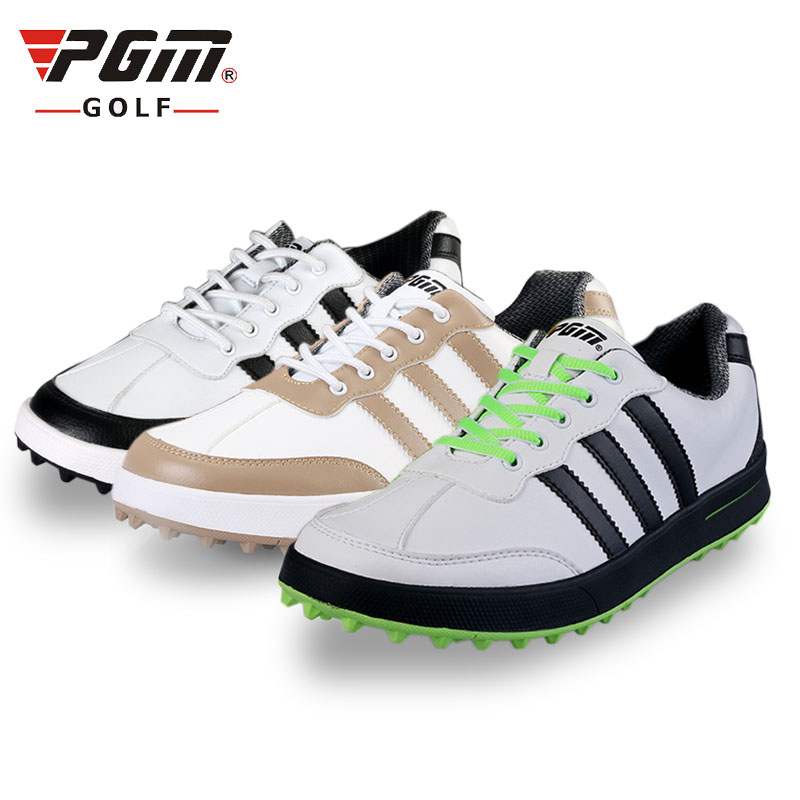 professional Golf shoes men women  soft microfiber leather breathable waterproof outdoor sports shoes anti-skid simulation mini golf course display toy set with golf club ball flag