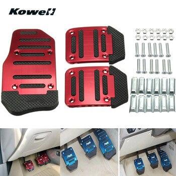 KOWELL 3PCS Rot Blau Fuß Rest Kraftstoff Bremse Kupplung Pedale Platte Abdeckung Auto Pedal Pads für Volkswagen VW Polo bora Golf für Lada