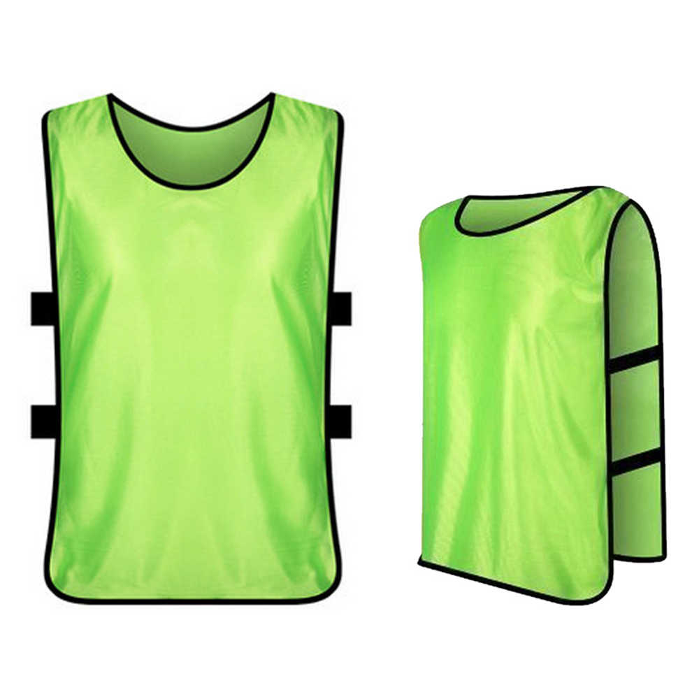 12 adet yetişkinler futbol Pinnies hızlı kuruyan futbol formaları yelek Scrimmage uygulama spor yelek nefes takım eğitim önlükler