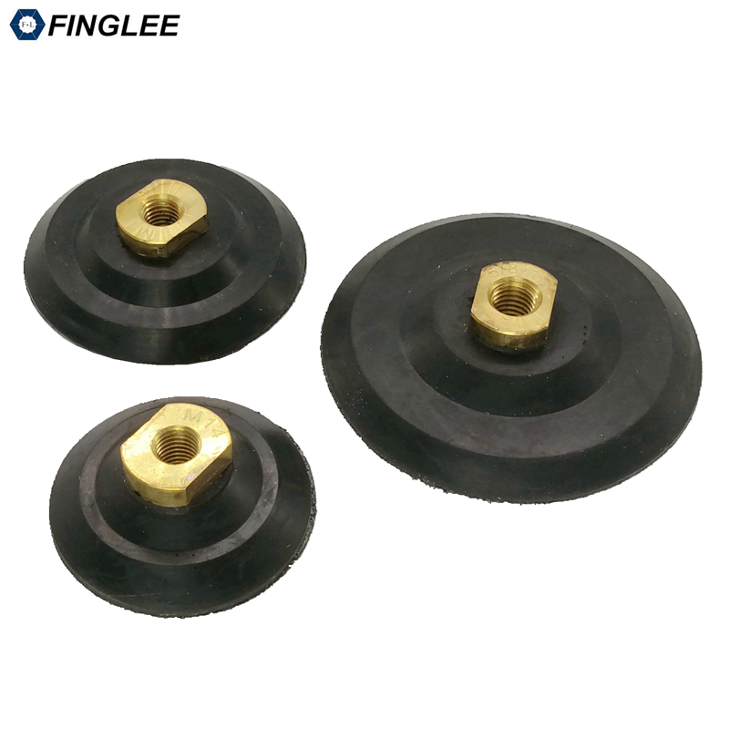 1pcs 3inch/4inch/5inch nylon backer pad,rubber connector joint for flexible polishing pad, M14 5/8-11,granite marble polishing