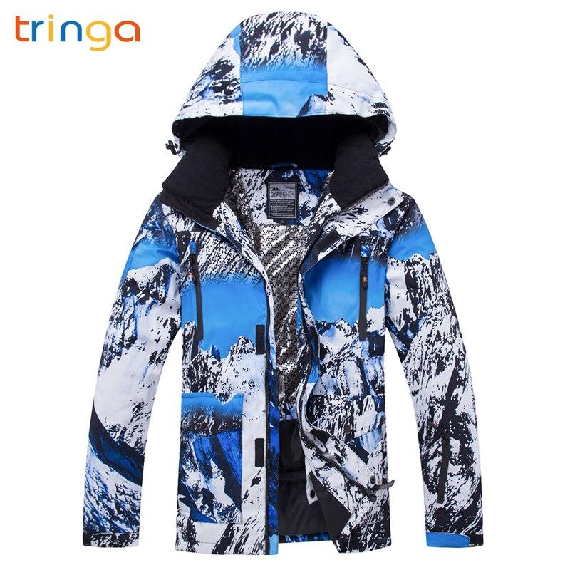 TRINGA 2018 nouveau chaud de haute qualité hiver Ski costume hommes veste de Ski neige chaud imperméable coupe-vent Ski et snowboard costumes