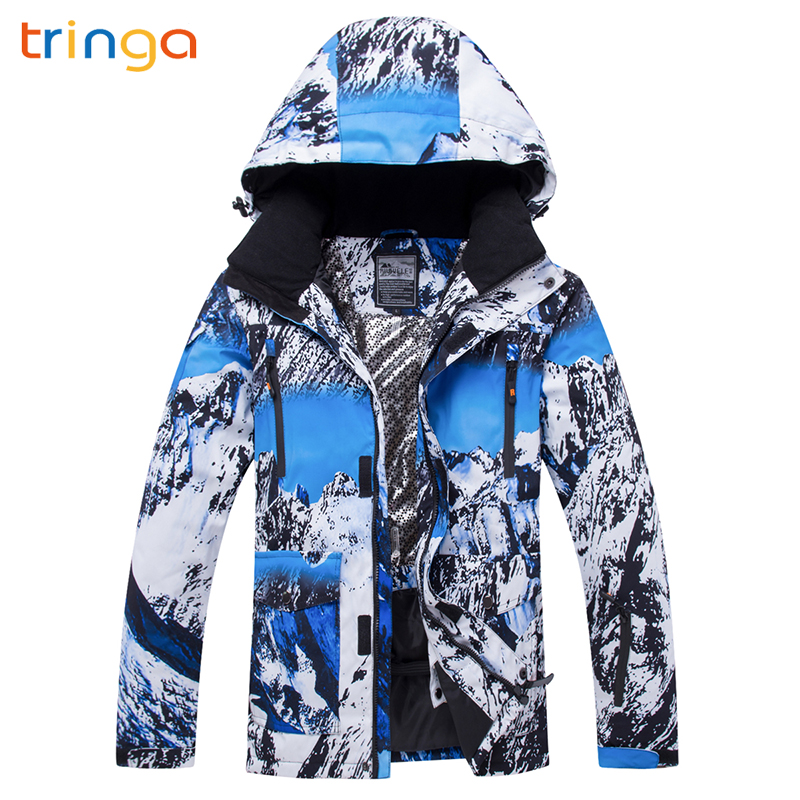 TRINGA 2020 New Hot High Quality Winter Ski Suit Men's Ski Jacket Snow Warm Waterproof Windproof Skiing And Snowboarding Suits