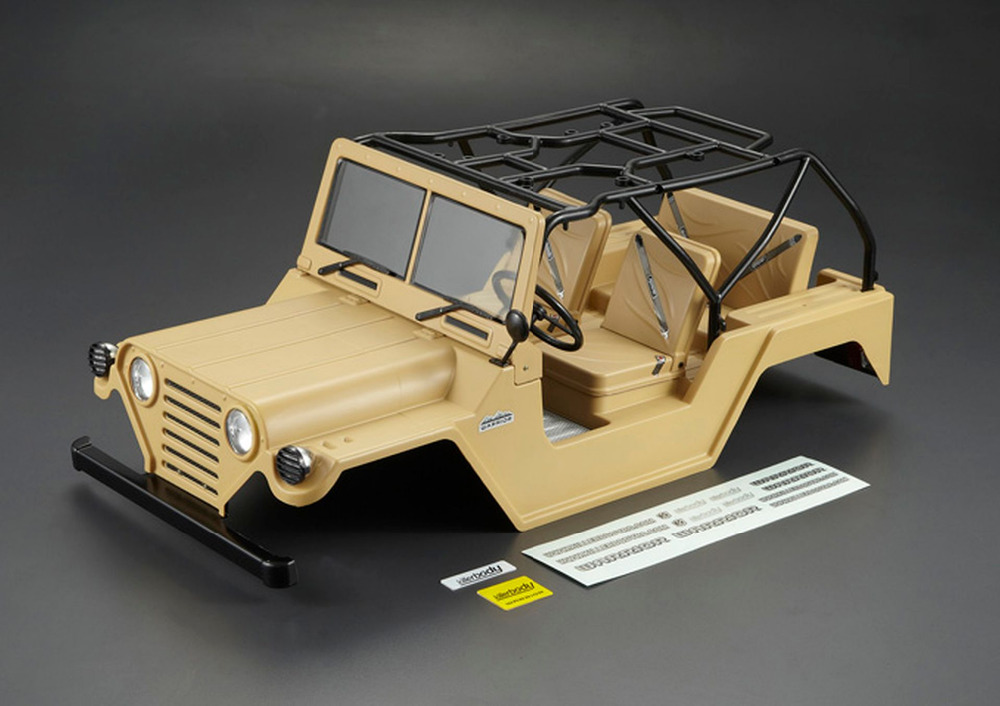 Gentle Killerbody 48447 1/10 On Road Scale Crawler Finished Body Warrior Matte Military Dese Remote Control Toys