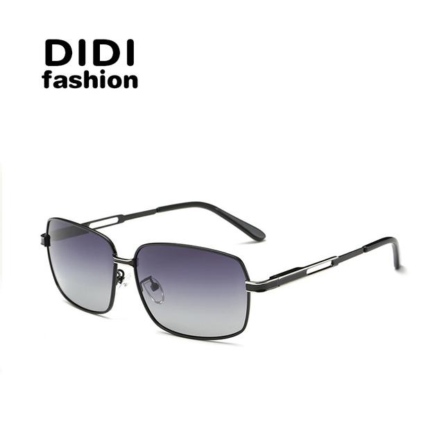 DIDI Pequeño Cuadrado retro Sunglaases Hombre photochromic para hombre de conducción gafas de Sol Polarizadas marco de aleación de uv400 Gafas de Sol H382