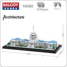 16082 международно известная архитектура Capitol Конгресс модель микро строительные мини изготавливаемый по методу «сделай сам» развивающие 3D Ассамблеи Игрушка коллекция