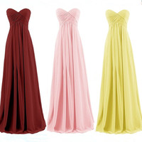 LLY FH The New 2017 Autumn Winter Ball Gown Strapless Pink Bridesmaids Dresses The Bride Wedding