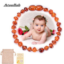 Ataullah Classic Natural Baltic Amber Baby Bracelet Teething for Kids Children Adult Jewelry Amber Stone Beads Bracelet AC002(China)