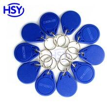100pcs a lot Access Control RFID Keytag EM4100 Proximity EM ID Keyfob 13.56Mhz IC MF Smart Token Keychain