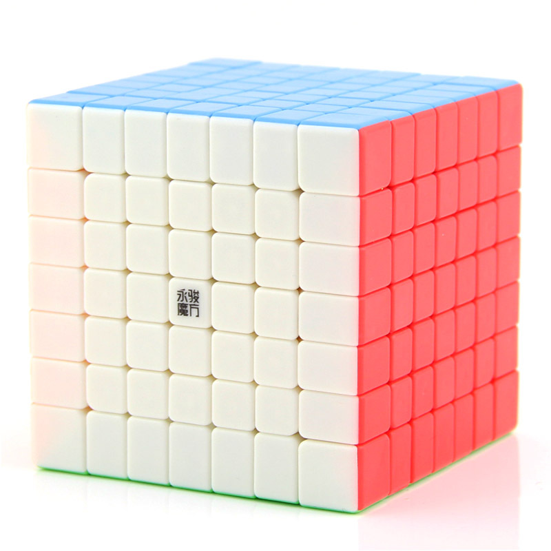 YONGJUN YUFU Stickerless 7*7*7 Magic Cube Puzzle Cube Jouets Éducatifs