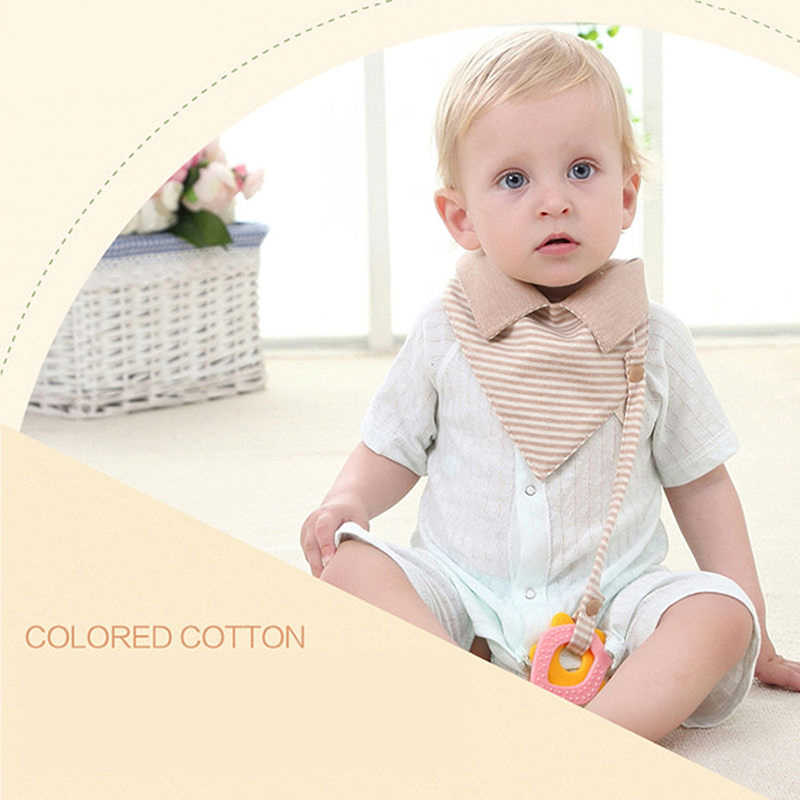 Мульти-функция хлопок воротник Детские нагрудники и салфетки для отрыжки Девочки Мальчики Муслин Хлопок мочалка Полосатый Дети Babadores полотенце для новорожденных