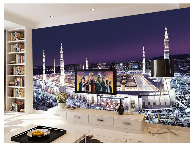 3d room photo wallpaper custom mural non-woven wall sticker Mosque Saudi Arabia painting TV background 3d wall murals wallpaper 3d room photo wallpaper custom mural moth orchid 3d photo painting room sofa tv background wall wallpaper non woven wall sticker