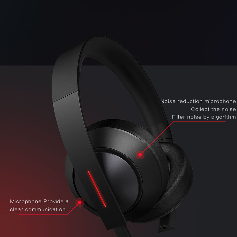 Xiaomi Mi Gaming Headphones LED Light 3.5mm USB Earphone Game Headphone Denoise with Microphone Hi-Fi Headset for Laptop Phones