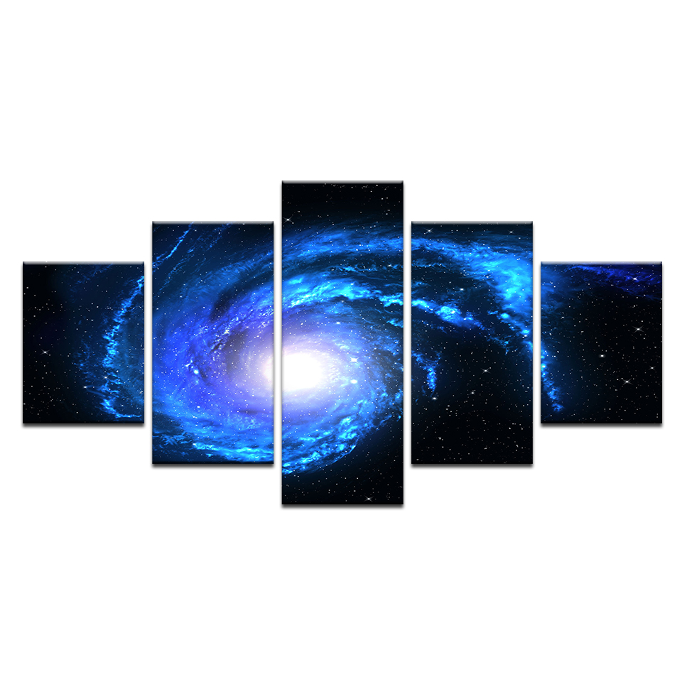 Canvas Painting Wall Art Home Decor 5 Pieces Star Filled Galaxy 5d Diy Diamond Cross Stitch Abstract Mosaic Picture Aliexpress